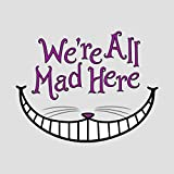"GI Alice in Wonderland Decal Sticker Vinyl | Cheshire Cat Sticker | Premium Quality | 5"" X 6"""