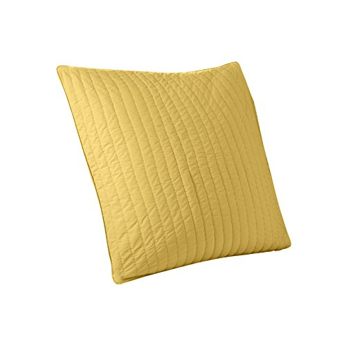 INK+IVY Camila 200TC Quilted Euro Sham, Yellow