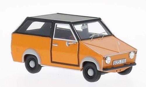 AWS Shopper, arancio, 1971, modello di automobile, modello prefabbricato, BoS-Modelos 1 43 Modello esclusivamente Da Collezione