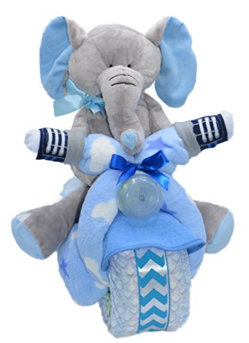 Blue Motorcycle Baby Boy Gift - Baby Centerpiece Shower Diaper