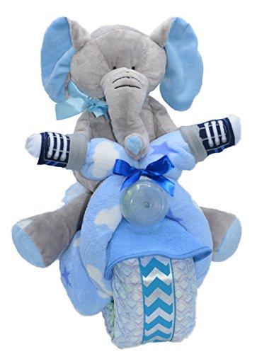 Blue Motorcycle Baby Boy Gift Set