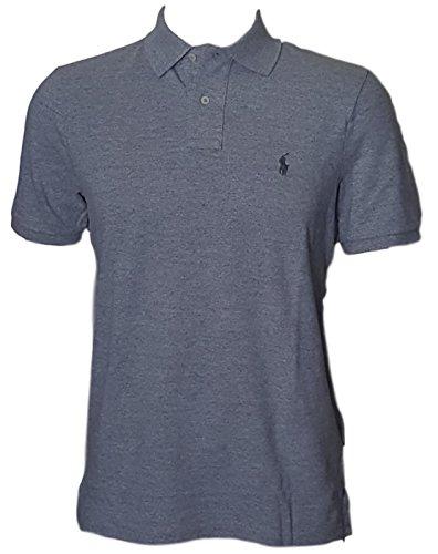 Dry Mesh Polo Shirt - Polo Ralph Lauren Classic Fit Mesh Pony Logo Polo Shirt (XXL, GeryHth)
