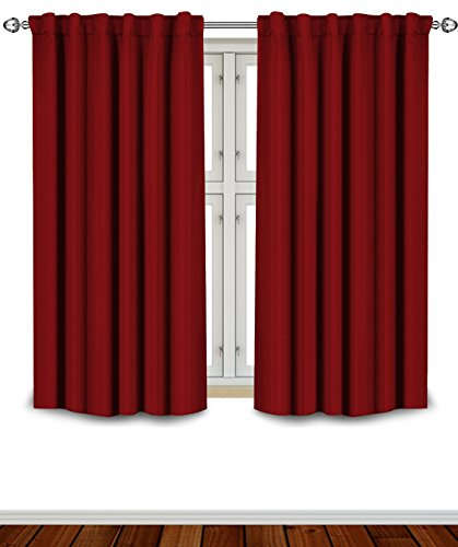 Room Darkening Curtains Window Blinds Panel Drapes Set