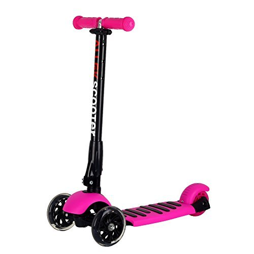 Allek Scooters for Kids, Wide Deck 3 Wheels Scooter for 3 Years and Up with T-Bar Handle 150lb Weight Limit Kick Scooter by Allek (Image #1)