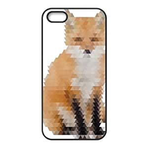 Abstract Fox iPhone 4 4s Cell Phone Case Black HX4464346