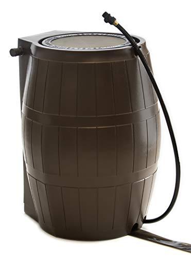 (FCMP Outdoor RC4000-BRN Catcher 4000 Rain Barrel, Brown)