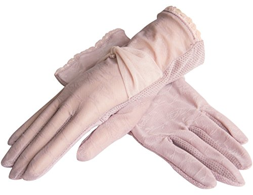 YISEVEN Elegant Women's Short Lace Sun Gloves Anti-Skid for UV - Free Myer Delivery