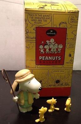 Hallmark Peanuts Gallery Nativity Shepherd and His Flock Snoopy & Woodstock QPC4050