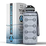 Cheap 64oz Hydration Tracking Large Sports Water Bottle, The Largest Three Drops of Life Time Tracker Sport Bottles, Best Hydration Monitor for Daily Goals