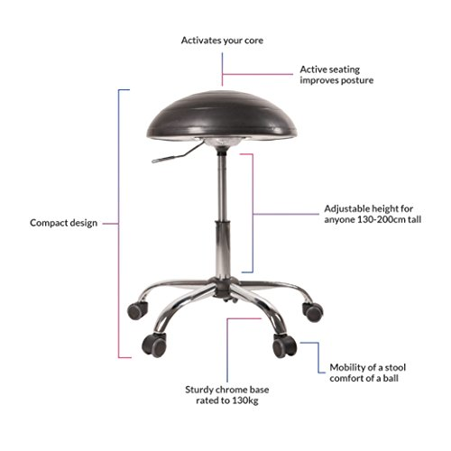 Balance Ball Office Chair Stool, Jellyfish Adjustable Chair by Coreseat   Ergonomic Exercise Office Chair that Provides Stability and Core Strength for the Home, Office or Classroom by Coreseat (Image #2)