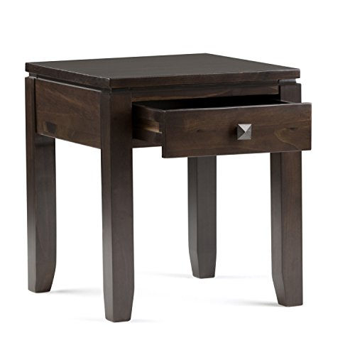 Simpli Home Cosmopolitan Solid Wood End Table, Coffee Brown by Simpli Home (Image #2)