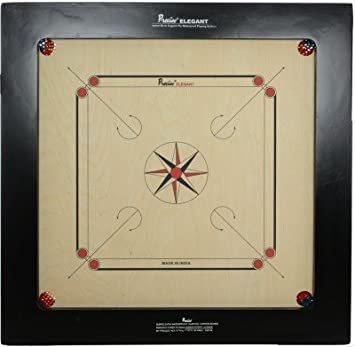 Buy Precise Ply Wood Carrom Board Game With Coin Striker And Powder 28mm Elegantjumbo28 Jumbo Online At Low Prices In India Amazon In