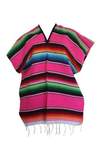 Del Mex Youth Child Mexican Serape Poncho Costume (Pink) ()