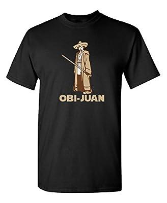 Feelin Good Tees OBI Juan Sci Fi Nerd Geek Movie Science Graphic Tee for Men Very Funny T Shirt
