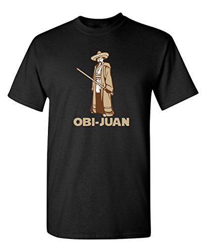OBI Juan Sci Fi Nerd Geek Movie Science Graphic Tee for Men Very Funny T Shirt, Black