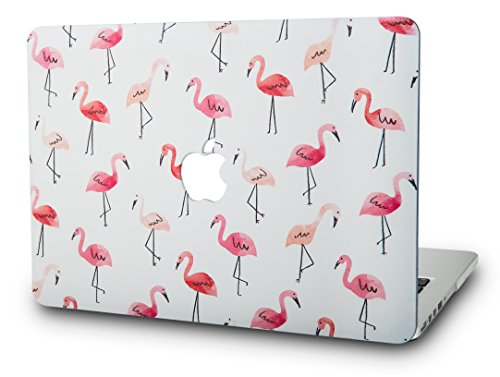 KEC MacBook Pro 13 Case 2017 & 2016 Plastic Hard Shell Cover A1706 / A1708 with/without Touch Bar (Flamingo)