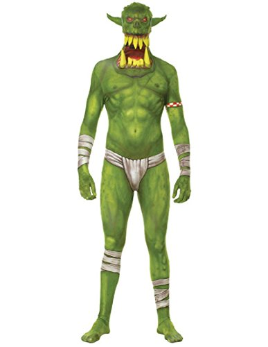 Morphsuits Kids Green Orc Monster Costume - Large 4'-4'6 / 10-12 Years