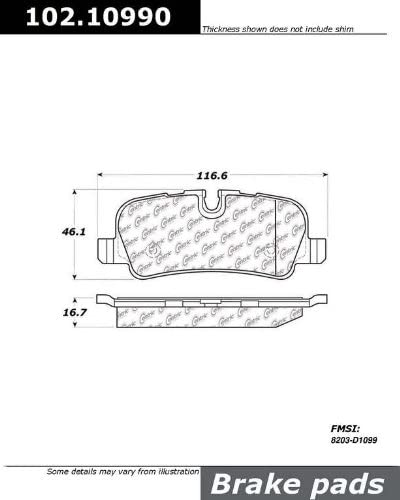 StopTech 102.13410 Brake Pad Metallic