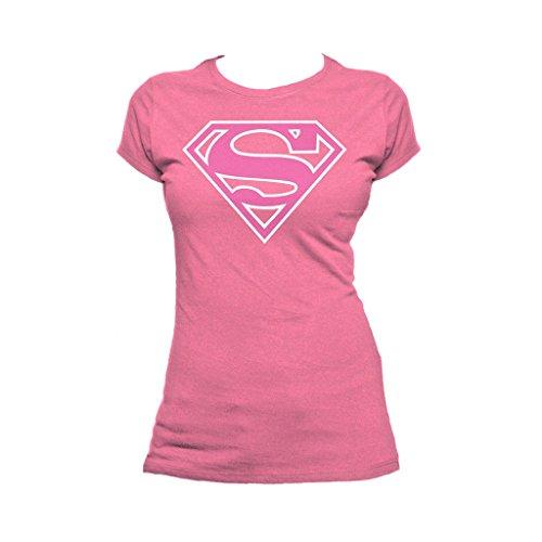 - DC Comics Supergirl Logo Classic Official Women's T-Shirt (Pink) (Large)