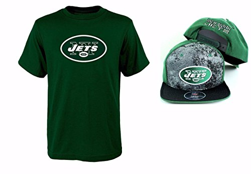 Outerstuff New York Jets NFL Youth Size Performance T-Shirt with Cap Set (Youth XLarge 18/20) (Youth Jets Football Helmet)