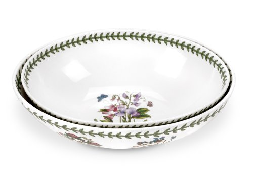 Portmeirion Botanic Garden Oval Bowl Set of 2, 11