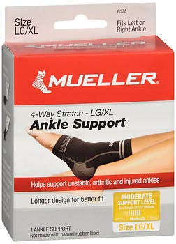 Mueller Sport Care 4-Way Stretch Ankle Support Large/X-Large - 1 ea, Pack of 2