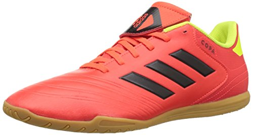 Adidas Indoor Soccer Cleats - adidas Men's Copa Tango 18.4 Indoor Soccer Shoe, Solar Red/Black/Solar Yellow, 10 M US