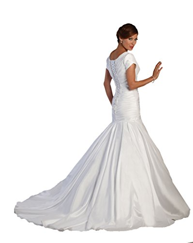 Mermaid Wedding Dress Plus Size Bonny Bridal Gown 2114 - White, size 20
