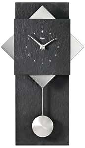 Vaerst 2729 - Reloj de pared, color negro