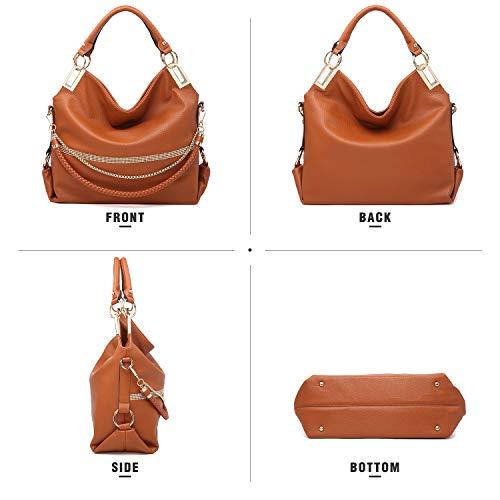 Chain Purse Bag Bag Shoulder Top Classic Rhinestone Large Hobo Black Handle Dasein Women��s PF8xwaFY