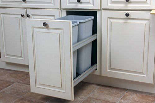 Bottom Mount Trash Pull-Outs with Soft Close, 11-3/16