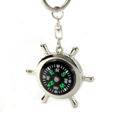 portable alloy silver nautical compass