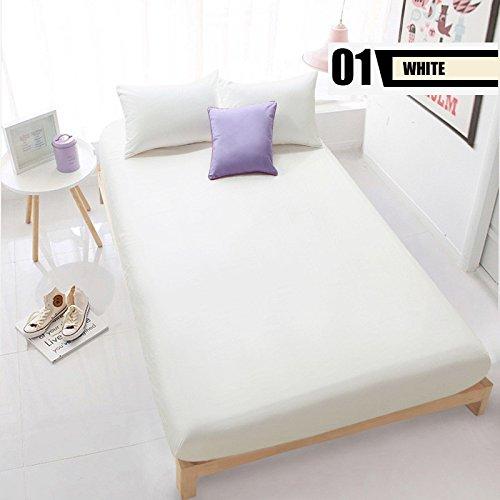 La hoja de cama sólida para hojas dobles individuales sábana ajustable ropa de cama ropa de cama