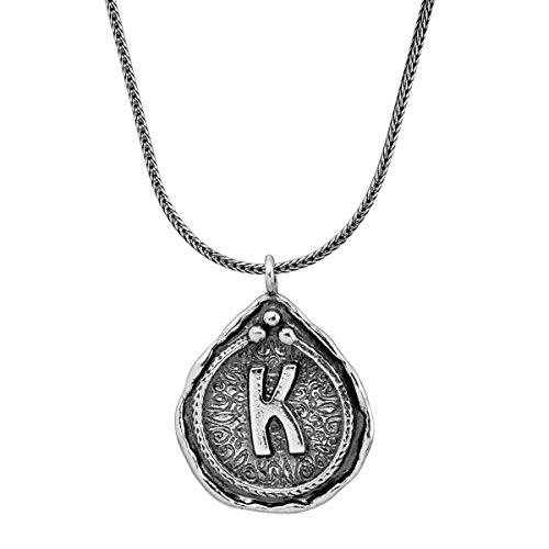 Silpada Namesake Collection 'K' Initial Pendant Necklace in Sterling Silver