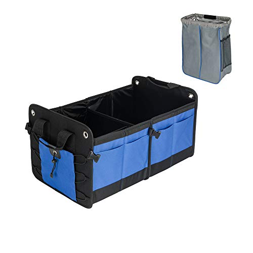 Heavy Duty Trunk Organizer with Waterproof Trash Bin