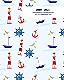 2019 - 2020 | 18 Month Weekly & Monthly Planner July 2019 to December 2020: Sailing Nautical Lighthouse Seagull Sailboat Vol 1 Monthly Calendar with ... Holidays- Calendar in Review/Notes 8 x 10 in.