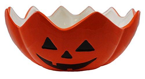 Carved Jack-O-Lantern Ceramic Halloween Candy (Halloween Dish)