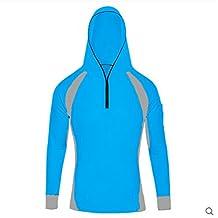 SANKE Men's UV Sun Protection Breatheble Windproof Long Sleeve Fishing Shirts Hooded