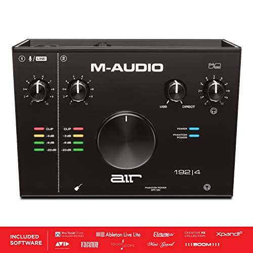 M-Audio AIR 192|4 - 2-In 2-Out USB Audio Interface with Recording Software from ProTools & Ableton Live, Plus Studio-Grade FX & Virtual Instruments