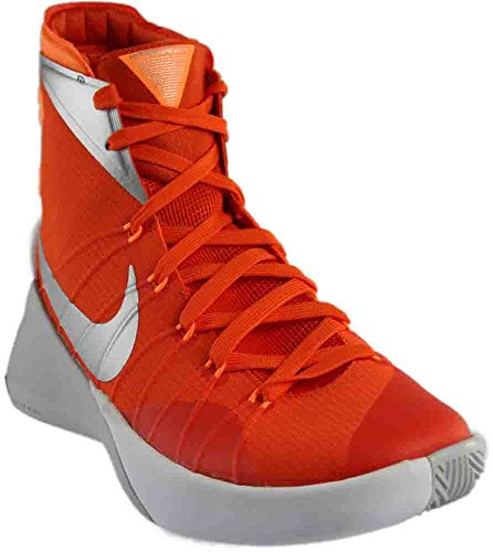 Nike Herren Hyperdunk 2015 Basketballschuh Orange Blaze / Bright Citrus / Weiß / Metallic Silber
