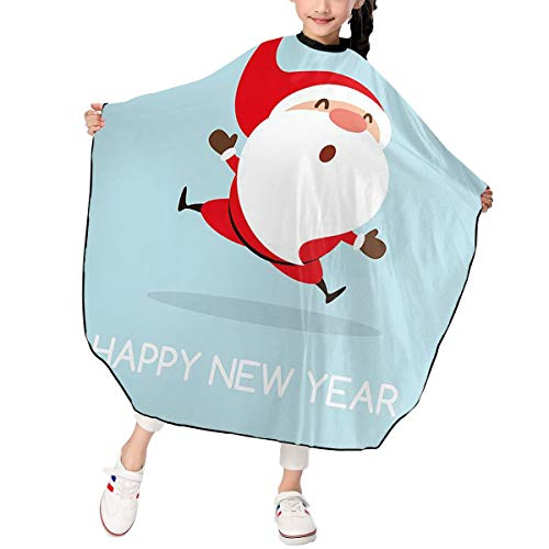 Jumping Santa Claus Kids Haircut Barber Cape Cover for Hair Cutting,Styling and Shampoo