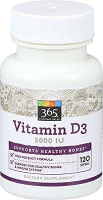 365 Everyday Value, Vitamin D3 5000 IU, 120 ct