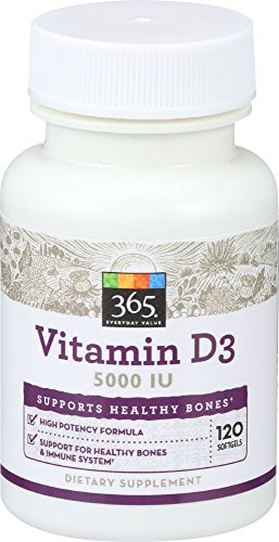365 Everyday Value, Vitamin D3 5000 IU, 120 ct