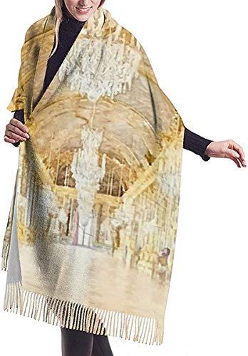 Chal Abrigo Manta Bufanda Versalles Salon de los Espejos Mujeres Bufanda de cachemira suave Gran Pashminas Manton Manta 77 x 27