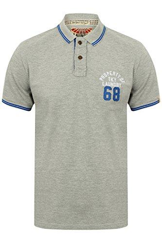 Tokyo Laundry Herren Blusen Poloshirt, Einfarbig weiß weiß Small Gr. Large, 1X9299_ EskoSprings_Light Grey