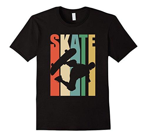 Skateboarder Retro Vintage T-Shirt Skateboarding Tee (Tee Retro Shirt)