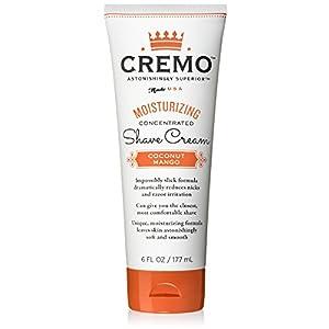 Cremo Coconut Mango Moisturizing Shave Cream, Astonishingly Superior Shaving Cream For Women, Fights Nicks, Cuts And Razor Burn, 6 Ounces
