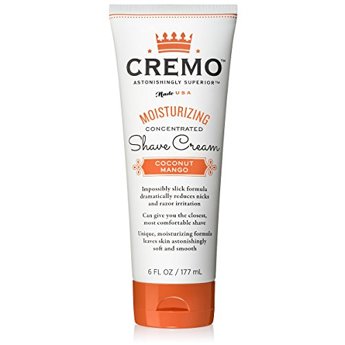 Cremo Coconut Mango Moisturizing Shave Cream, Astonishingly Superior Shaving Cream For Women, Fights Nicks, Cuts And Razor Burn, 6 Ounces