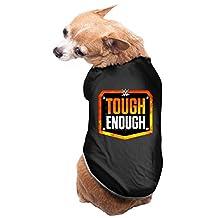 Black MTV's WWF Tough Enough Pet Dog Clothes Doggie Jacket