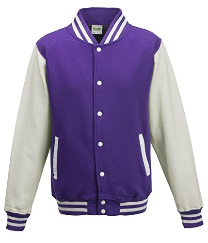 Awdis Jacket Violet Shirt Purple Sweat Varsity white Homme rgA1rn